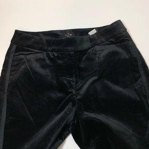 White House Black Market Pants - WHBM velvet black slim ankle pants